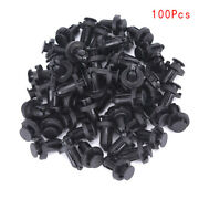 100pcs Bumper Clips 10mm Hood Fender Push Rivets Retainer Fasteners For Axns2