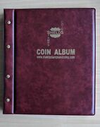 Shields Stamps And Coins Vst Coin Album 12 Pages Burgundy Cover