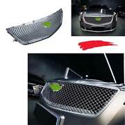 For 2018-2020 Cadillac Xts Abs Silver Car Front V-sports Mesh Grill Grille 1pcs