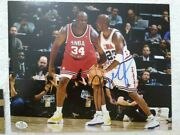 Michael Jordan Hand-signed Autographed 8x10 Nba All-star Game Action Photo W/coa