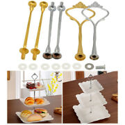 3 Tier Crown Metal Cake Plate Stand Fit Party Tray Dessert Rack Holder No Plate