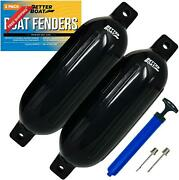 2 Pk Boat Fenders Bumpers For Dock With Pump Boat Accessories Fender Bumper Set