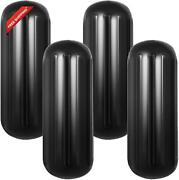 Mophorn 4 Ribbed Boat Fenders 10 X 28 Inch Boat Fenders Bumpers Black Center Hol