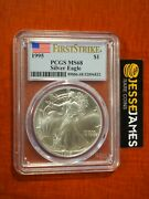 1995 1 American Silver Eagle Pcgs Ms68 Flag First Strike Label
