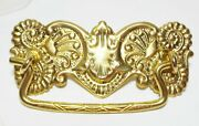 8 Ornate Brass Drawer Bail Pull Handles Hardware New Unused Complete