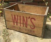 Original Winand039s Milwaukee Wooden Crate / Vintage Advertising Crates / Old Crate