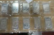 10 Johnson Matthey 1 Oz Bar .999 Silver Bars With Consecutive Serial Numbers