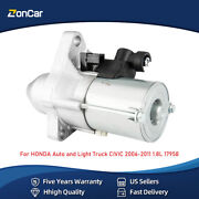 New Starter For Honda Auto And Light Truck Civic 2006-11 07 08 09 10 1.8l 17958