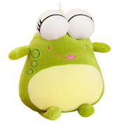 Nw Super Soft Smiling Face Big Eye Unique Cute Frog Plush Toy Kids Holiday Gift