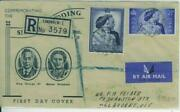Gb Great Britain Sg 493-4 1948 Silver Wedding Set On Registered Illustrated Fdc