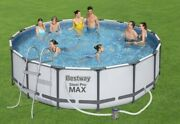 Bestway Power Steel Frame Swimming Pool Set Round Above Ground 16ft X 48inch New