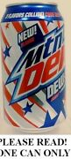 Dew S A Mountain Dew Code Red-white Out-voltage Full New 12oz Can Pepsi Usa 2021