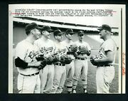 White Sox Pitching Staff Joel Horlen Peters O'toole Tommy John 1967 Press Photo