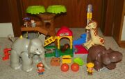 Fisher-price - Little People - Big Animal Zoo W/ Hippo And Giraffe - 100 Complete