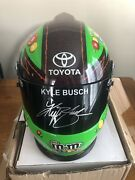 Kyle Busch Autographed Mandm Full Size Replica Helmet Brand New In Box