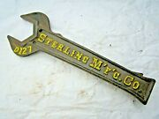 Antique Sterling Mfg Co. Sterling Il D127 Farm Tractor Implement 12 Wrench Tool
