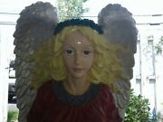 🎄 Beautiful Vintage Indoor/outdoor Christmas Angel Designed By Jaimy 3 Ft Tall