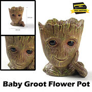 Flower Pot Molds Cartoons Baby Groot Handmade Clay Craft Cement Planter Silicone