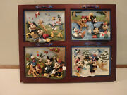 Disney Bradford Exchange Mickey Mouse Seasons Of Friendship 4 Plate Collectible