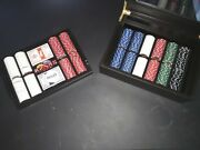 Las Vegas Classics Poker Set With Dice, Cards, Chips, And Case