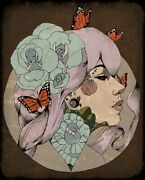 How I See It By Amy Dowell Art Deco Portrait Of Woman Tattoo Canvas Art Print