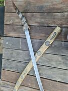 Rare Holy Land Sword The Only In World Handmade Handle Ox Horn Solid Steel Blade