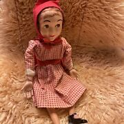 1950's Red Riding Hood Toy Vintage Hazelle's Popular Marionette