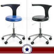 360anddeg Rotation Mobile Working Chair Adjustable Dentist Doctorand039s Stool Pu Leather