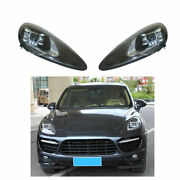 Headlight Assembly For Porsche Cayenne 11-14 Full Led Beam Projector Led Drl