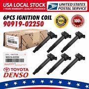 6pcs Ignition Coils 4pins Genuine Denso 673-1309 For Toyota Lexus 90919-a2005
