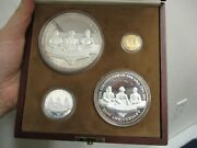 1987 Mexico 4-pc Proof 200th Anniversary U.s. Constitution Coin Set 1/4 Oz Gold