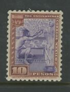 Mexico, Mint, 706, Og Lh, 10 Pesos, University, Clean, Sound And Centered