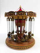 Used Mr. Christmas Gold Label Collectable 79841 World's Fair Swing Carousel W...