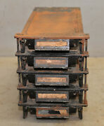 Rare Weydell Cast Iron Printers Type Drawer Jewelers Watchmakers Parts Cabinet
