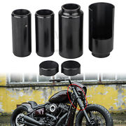 Motorcycle Black Upper/lower Fork Covers Tube Caps For Harley Softail Breakout