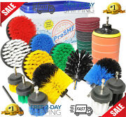 Ultimate Cleaning Drill Brush Kit For Kitchens Bathrooms Grills Brick Siding