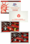 2000 S United States Us Mint 10pc Silver Proof Set