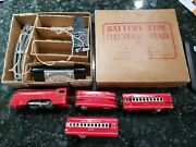 Clean Marx O-gauge Train 2360 Red Battery-operated Mercury Passenger Set In Box