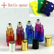 Colorful Bottle And Opener Gradient Glass Roll Metal Roller Ball Essential Oil