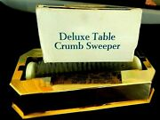 Vintage Gold Fuller Brush Deluxe Table Crumb Sweeper 471 Never Used In Box
