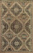 Antique Tribal Abadeh Hand-knotted Area Rug Geometric Traditional Oriental 6and039x9and039
