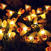 Led Solar Bee String Lights Outdoor Solar Power Leds Strings Waterproof Decors L