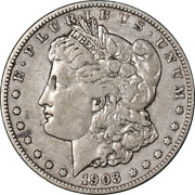 1903-s Morgan Silver Dollar Micro And039sand039 Choice Vf Superb Eye Appeal Strong Strike