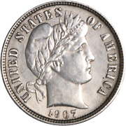 1907-d Barber Dime Great Deals From The Executive Coin Company
