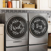 Laundry Room Front Loader Decal Set Wall Decor Quotes Wash Dry Wreaths Farmhouse