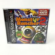 Rare Monster Rancher 2 Sony Playstation 1, 1999 Black Label Complete/tested