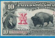 10. 1901 Fr.122 Bison Legal Tender United States Note Beautiful Choice Vf