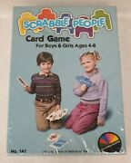 Scrabble People Card Game For Kids Vintage 1985 Selchow And Righter Htf Sealed New