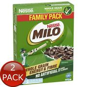 2 X Nestle Milo Cereal 70g Whole Grain Energy And Fibre Healthy Breakfast Famil...