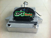 62mm Aluminum Radiator And Fan And Support For Triumph Gt6 2.0l 1966-1973 1972 1971